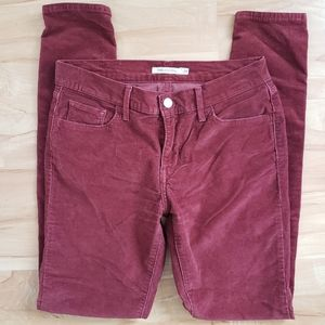 Levis 710 White Tab Super Skinny Rust Red Cord  29